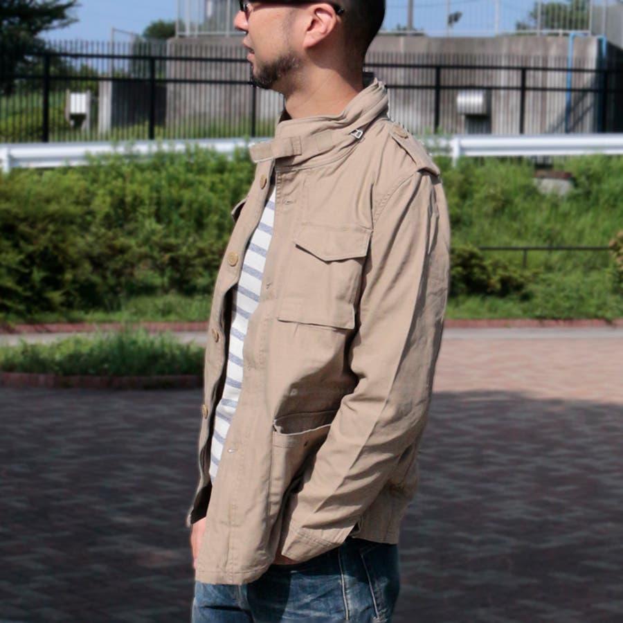 エスペーラ メンズ アウター ESPEARA 813102 M-65 フィールド ジャケット   ミリタリー アーミー ツイルフードファティーグジャケット アウター アメカジ トップス ベージュ ブラック M65 無地 かっこいい おしゃれ 定番 軍物 3