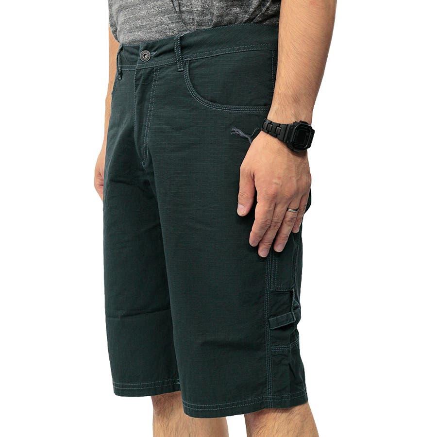 プーマ メンズ パンツ PUMA 558001 バミューダ パンツ | おしゃれ かっこいい 夏 ビーチ 4分丈 5分丈 綿 黒カーゴファスナー 登山 夏用 ネイビー 男性 丈夫 アウトドア レジャー トレーニング コットン 海 山 ストレート大きいサイズ サバイバルリップストップ 4