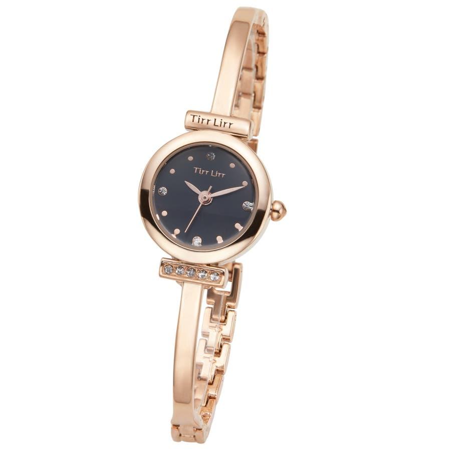 腕時計 レディース メタル ベルト ウォッチ TirrLirr ティルリル シルバー ピンク ゴールド 黒 キュービック, ジルコニア  ギフト 人気