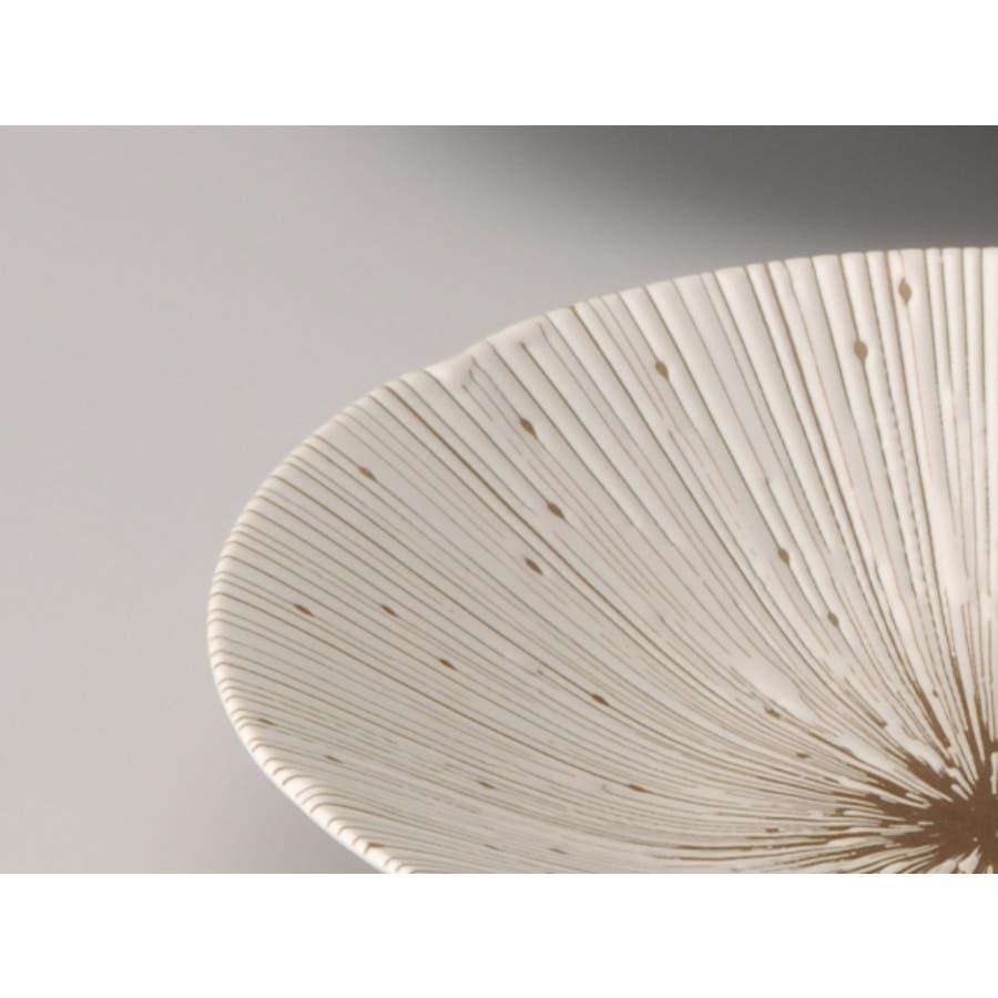 【日本製/美濃焼】千段十草 深皿 22cm ベージュ 2