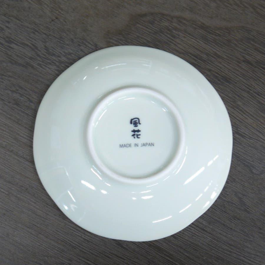【日本製/美濃焼】染錦古伊万里 小皿 (染錦花鳥) 径12x高2cm 2