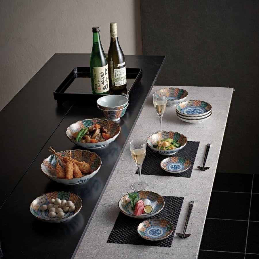 【日本製/美濃焼】染錦祥瑞 小皿 径12.5x高2.5cm 2
