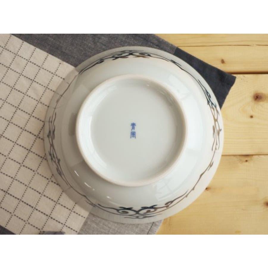【日本製/美濃焼】染付網浜絵 ラーメン鉢 径19.5x高7cm 3