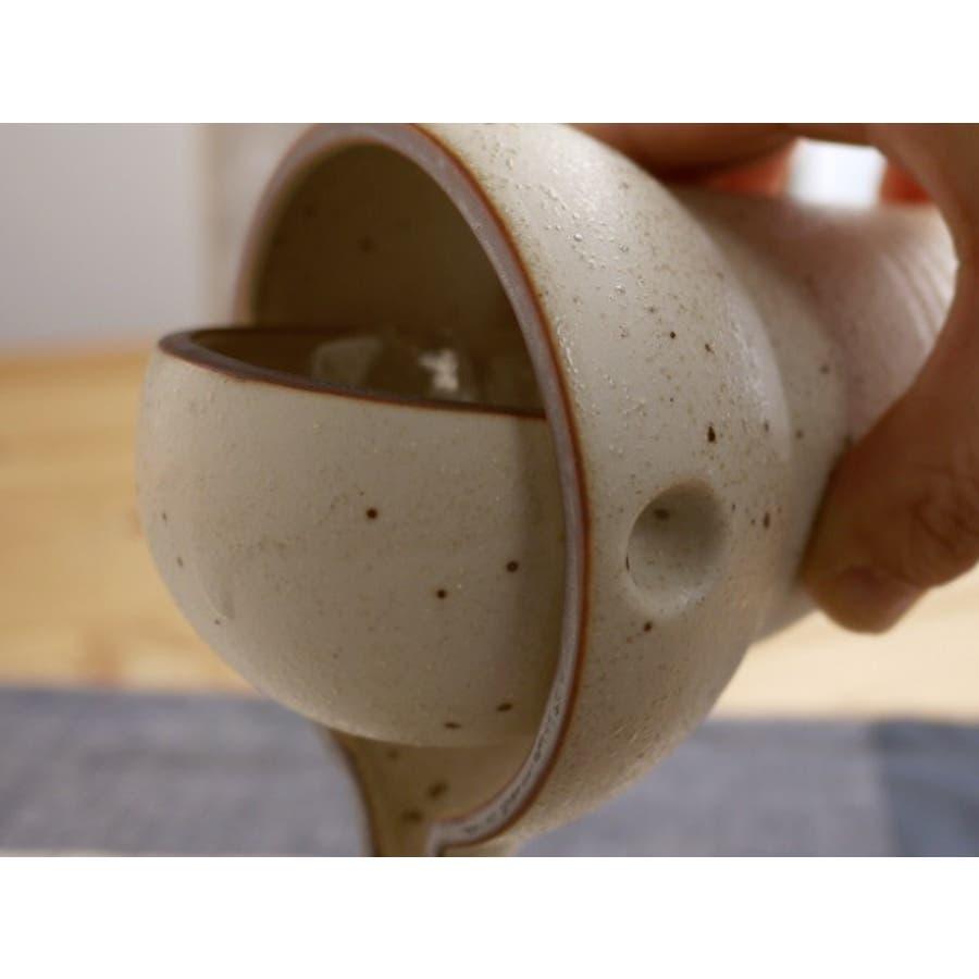 【日本製/美濃焼】ヤマ亮横井 ゆらり 冷酒器 1合・粉引 徳利&盃 2