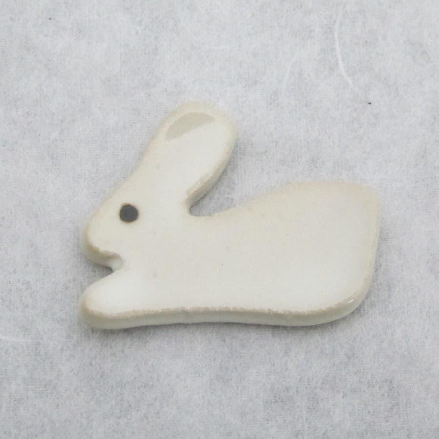 【日本製/美濃焼】atelier8409 うさぎ箸置 4x3.1cm AnimalCraft Chopstick restRabbits かわいい 2