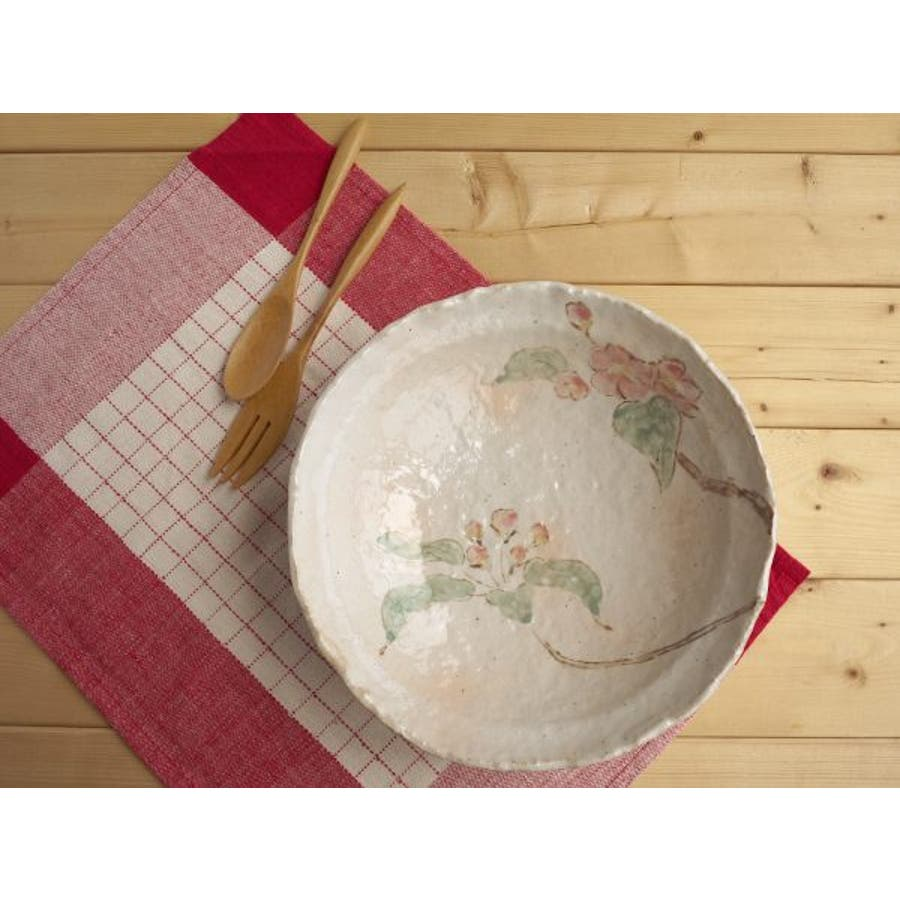 【日本製/美濃焼】御本手木の実 大鉢 径25x高6.5cm 2