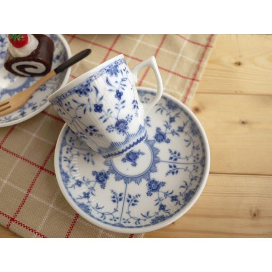 【日本製/美濃焼】ブルーシェル コーヒーカップ&ソーサー 2