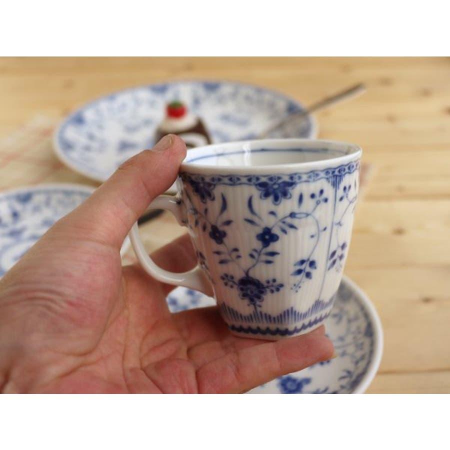 【日本製/美濃焼】ブルーシェル コーヒーカップ&ソーサー 3