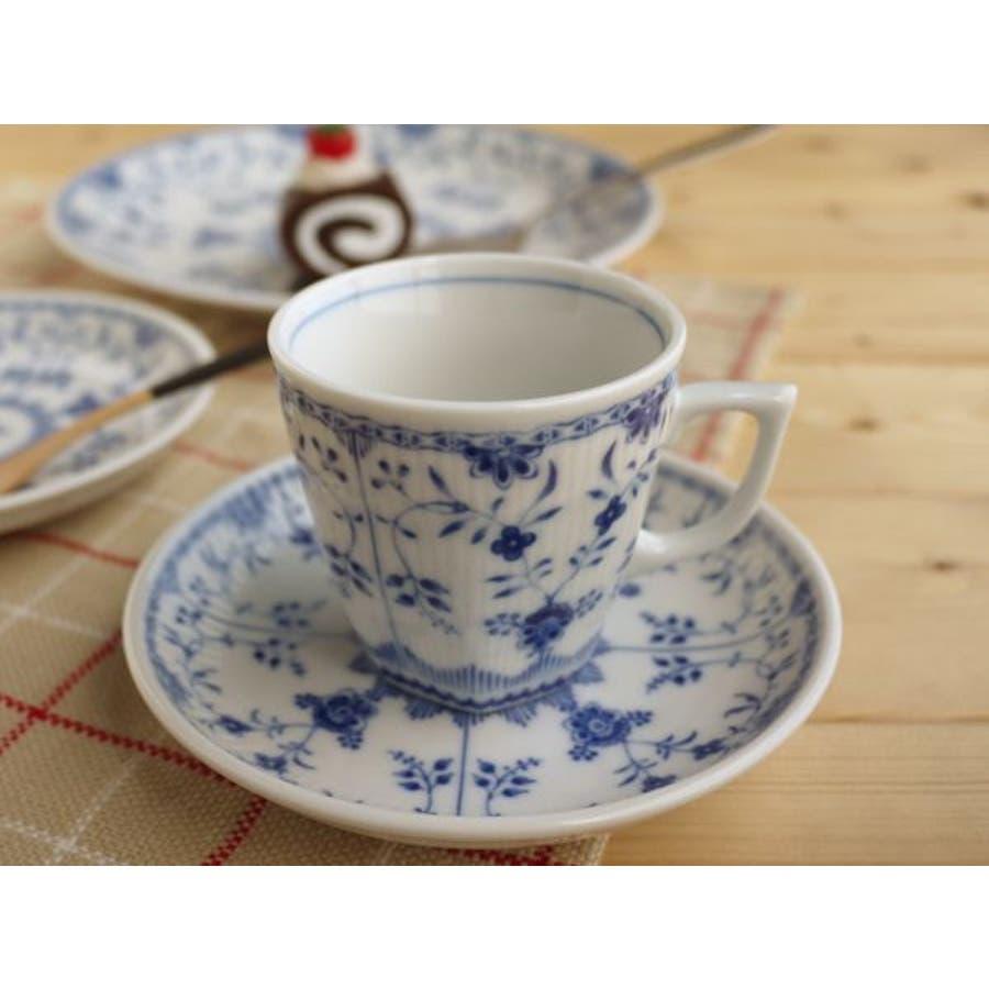 【日本製/美濃焼】ブルーシェル コーヒーカップ&ソーサー 1