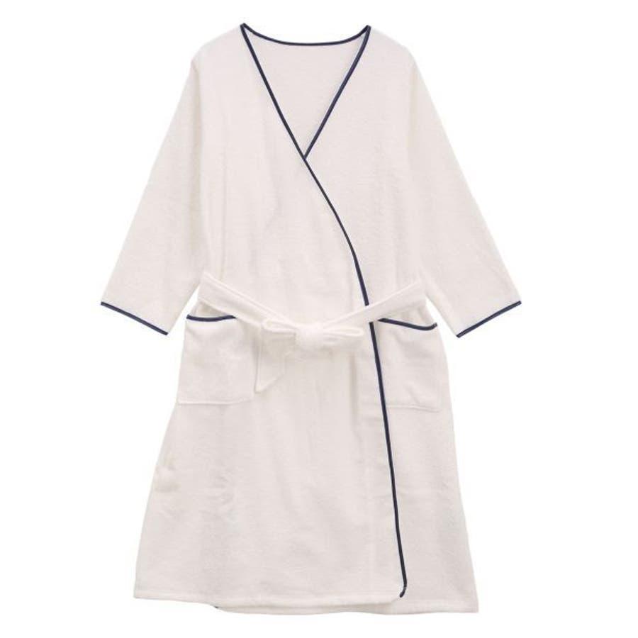 ブルーミングフローラ 綿100%スフレfineタオル バスローブ ルームウェア パジャマ ワンピース風呂上り改良進化シリーズ レディース 108