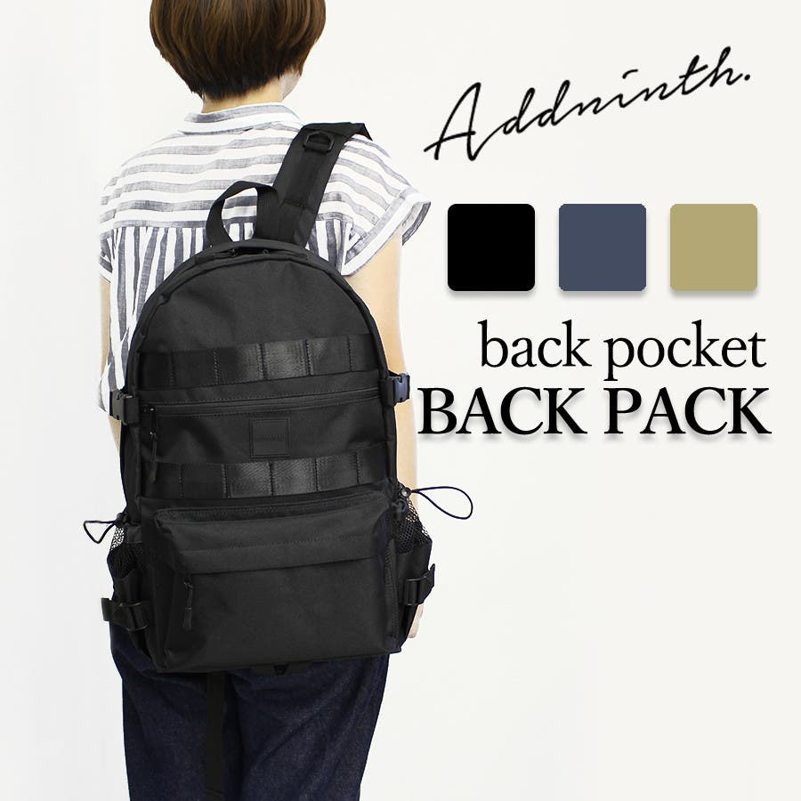 addninth バックパック 背ポケ付リュック ユニセックス 3カラー 44×28×15 ys190554 1
