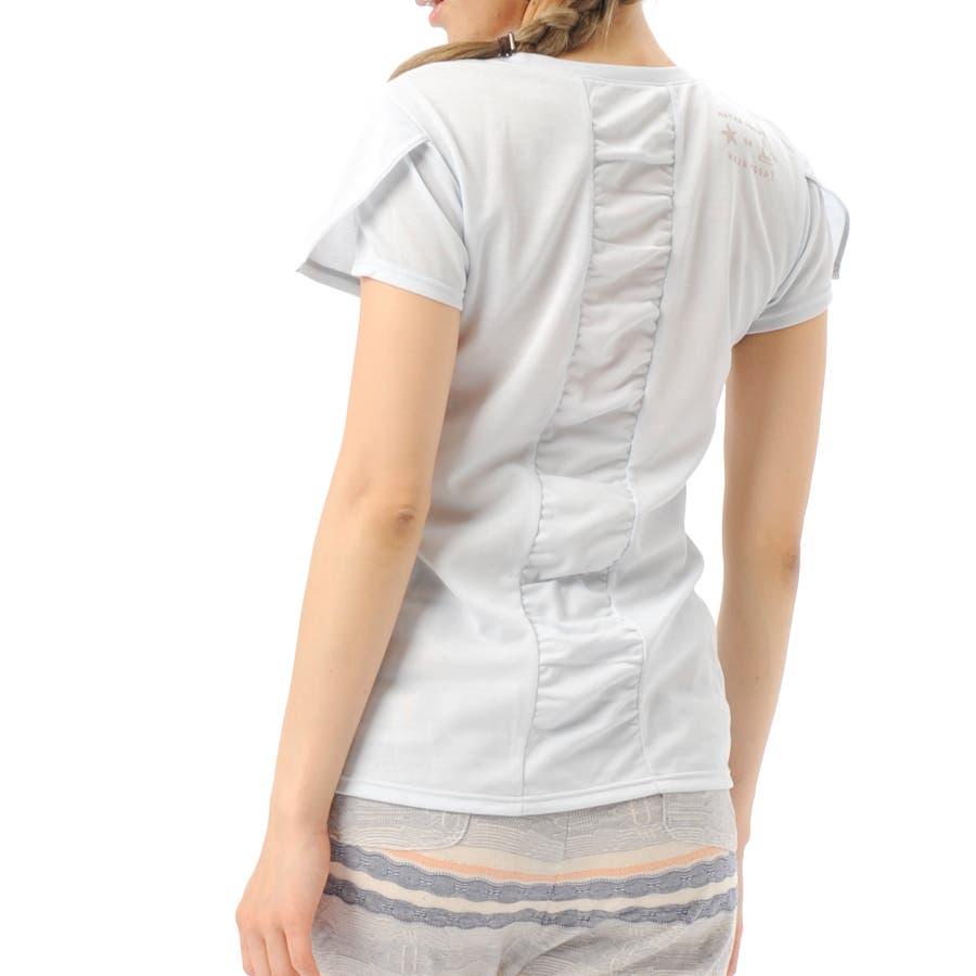 お洒落で女性らしい Real Stone リアルストーン レディース ヨガウェア ヨガウエア デザインTシャツ 1506R RS-C189TS 群行