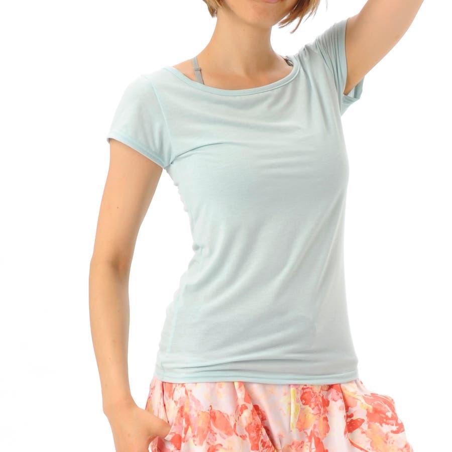 オシャレ女子はこう着てる ヨガウェア Tシャツ  1602R RS-C216TS Real Stone リアルストーン ヨガウェア レディース 豪胆