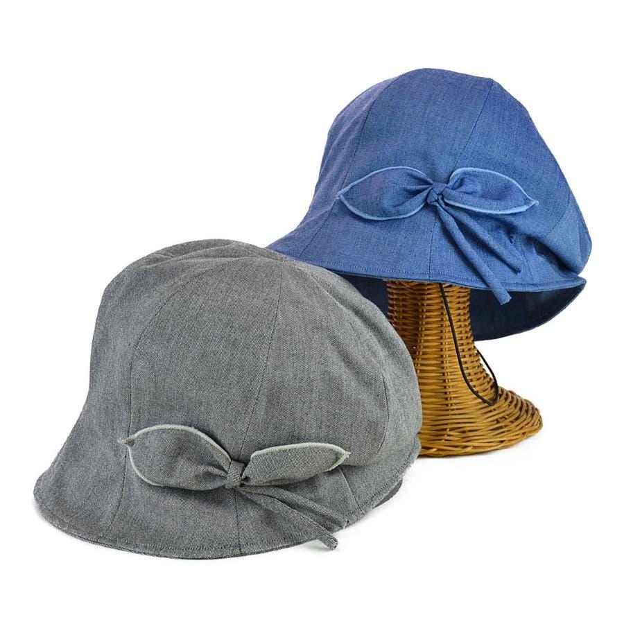 <春夏新作>リボン付ハンクキャスケット レディース 帽子 1
