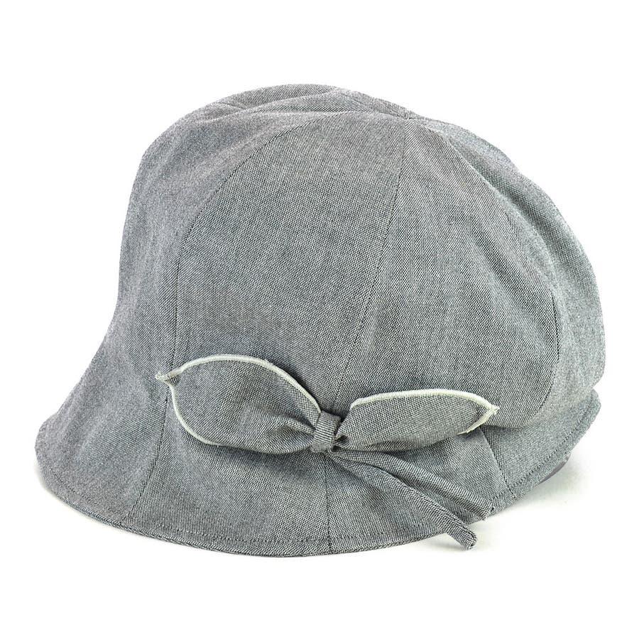<春夏新作>リボン付ハンクキャスケット レディース 帽子 23