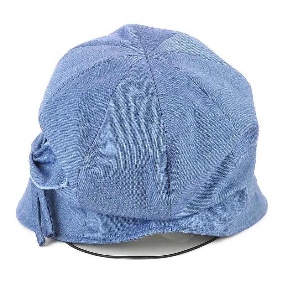 <春夏新作>リボン付ハンクキャスケット レディース 帽子 4