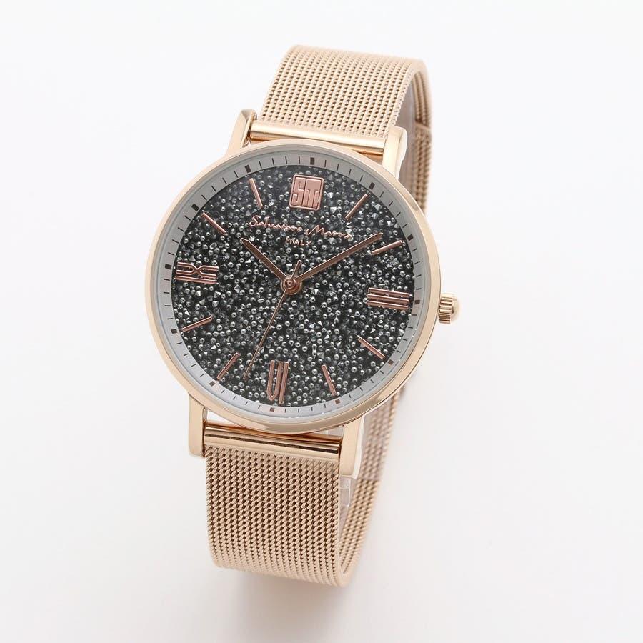 Salvatore Marra サルバトーレマーラ腕時計 替えベルト付きクリスタル素材ウォッチ SM18115-PGSV 2