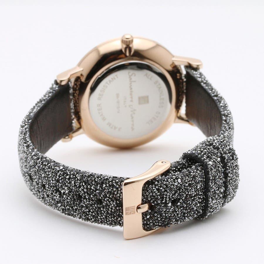 Salvatore Marra サルバトーレマーラ腕時計 替えベルト付きクリスタル素材ウォッチ SM18115-PGSV 3