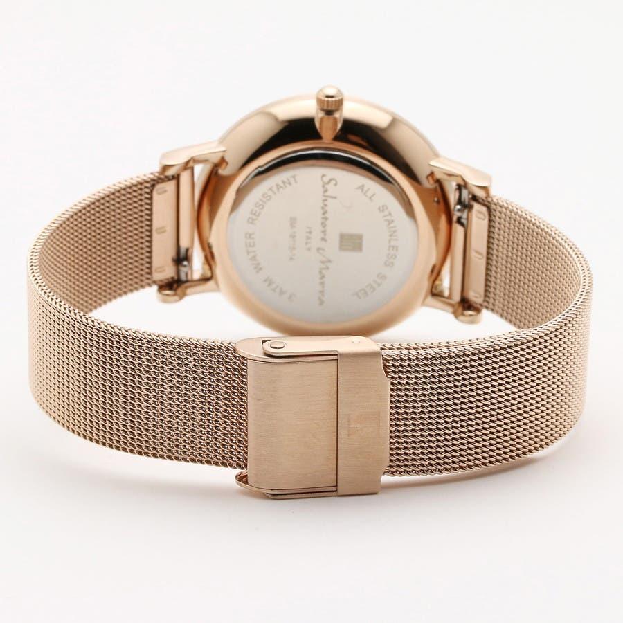 Salvatore Marra サルバトーレマーラ腕時計 替えベルト付きクリスタル素材ウォッチ SM18115-PGSV 4
