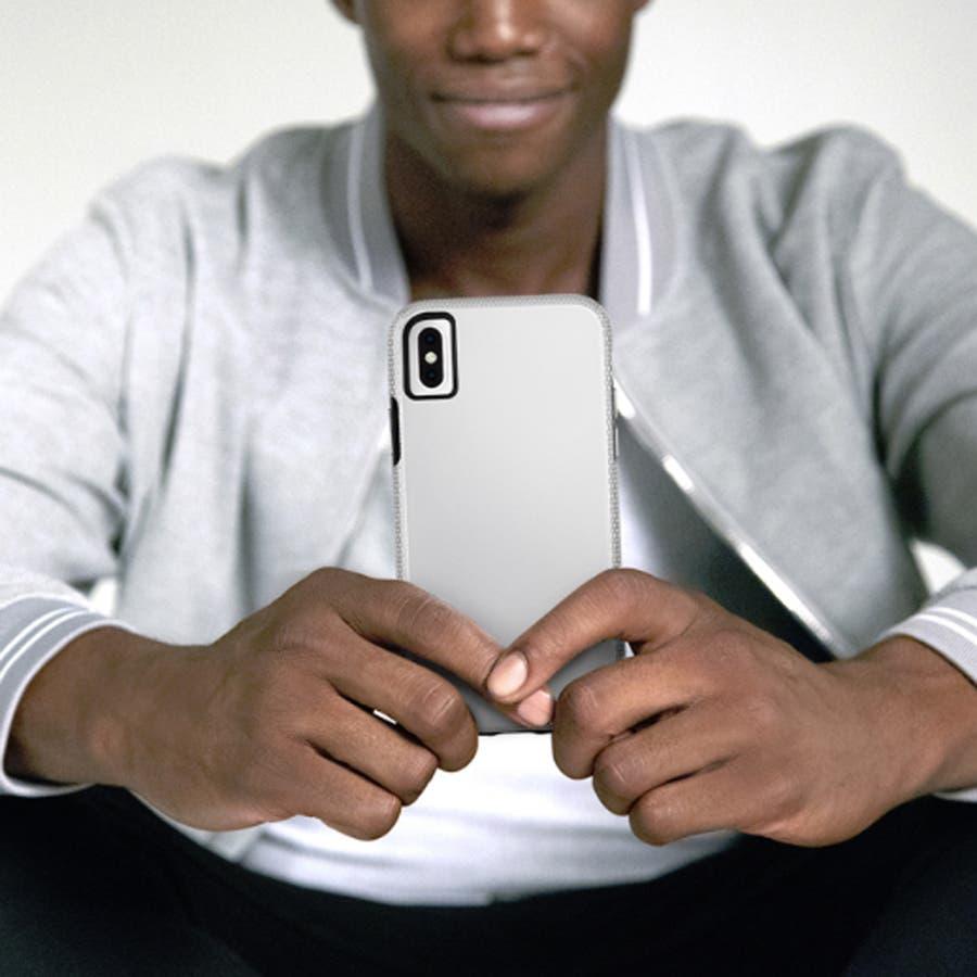 iPhoneXS/X対応ケース Tough Grip-Silver/Black 1