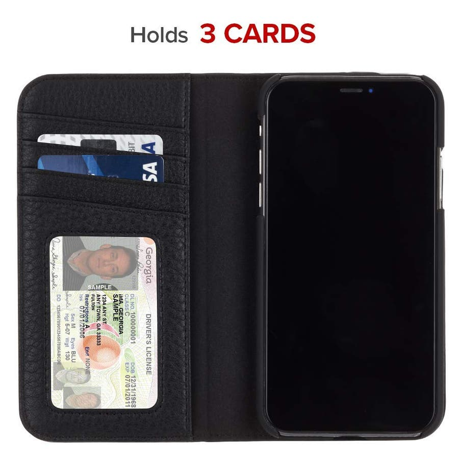 iPhoneXR対応ケース Wallet Folio-Black 3