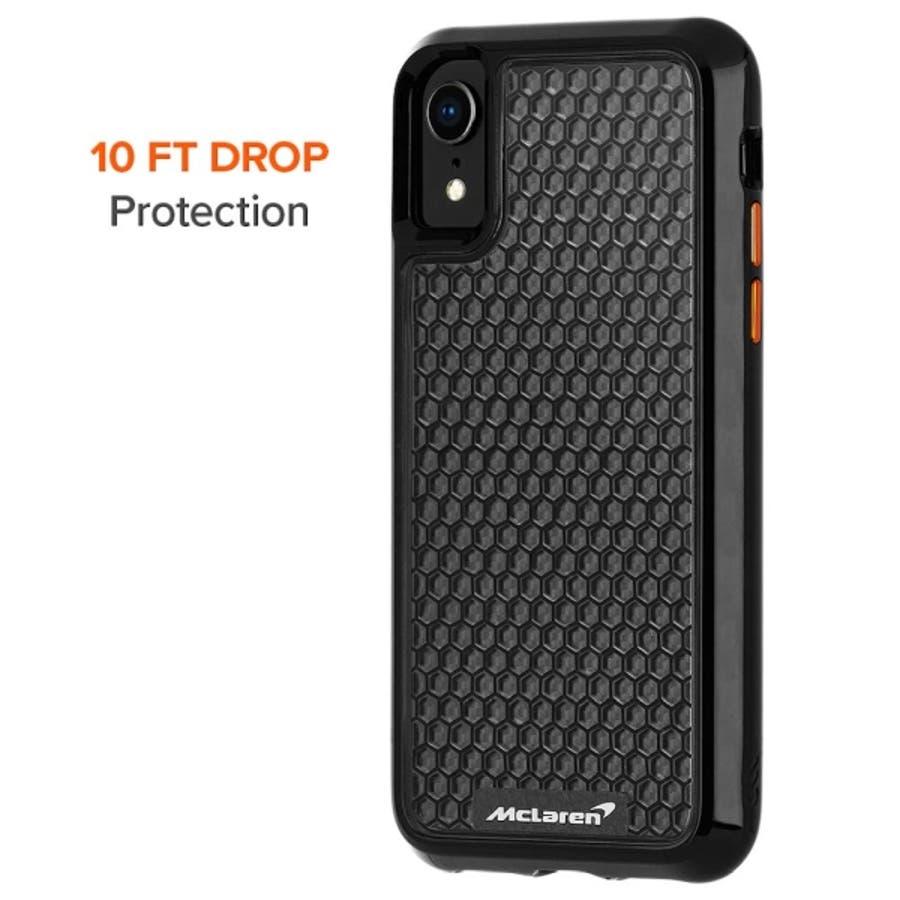 iPhoneXR対応ケース McLaren-Black 3