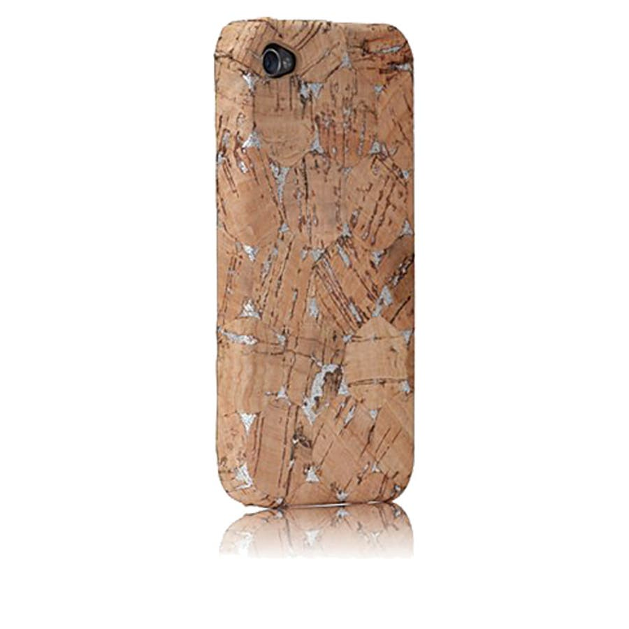 iPhone 4S/4 対応ケース Lisboa Case with Screen Protector, Cork/Silver 1