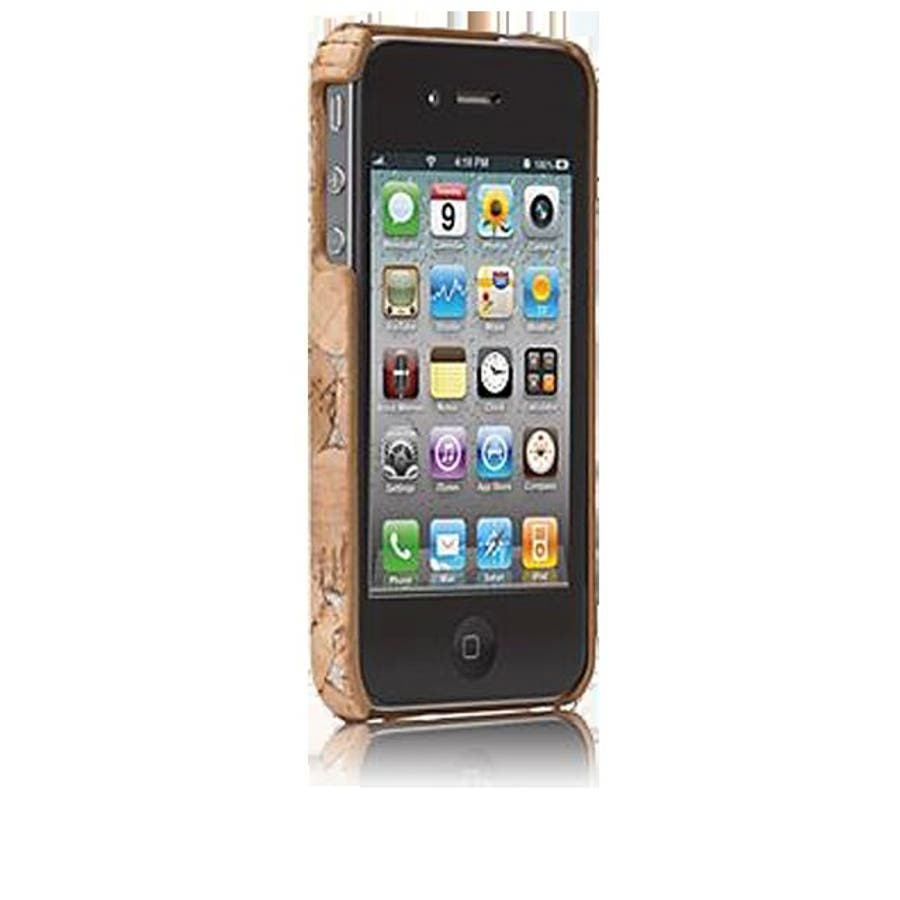 iPhone 4S/4 対応ケース Lisboa Case with Screen Protector, Cork/Silver 2