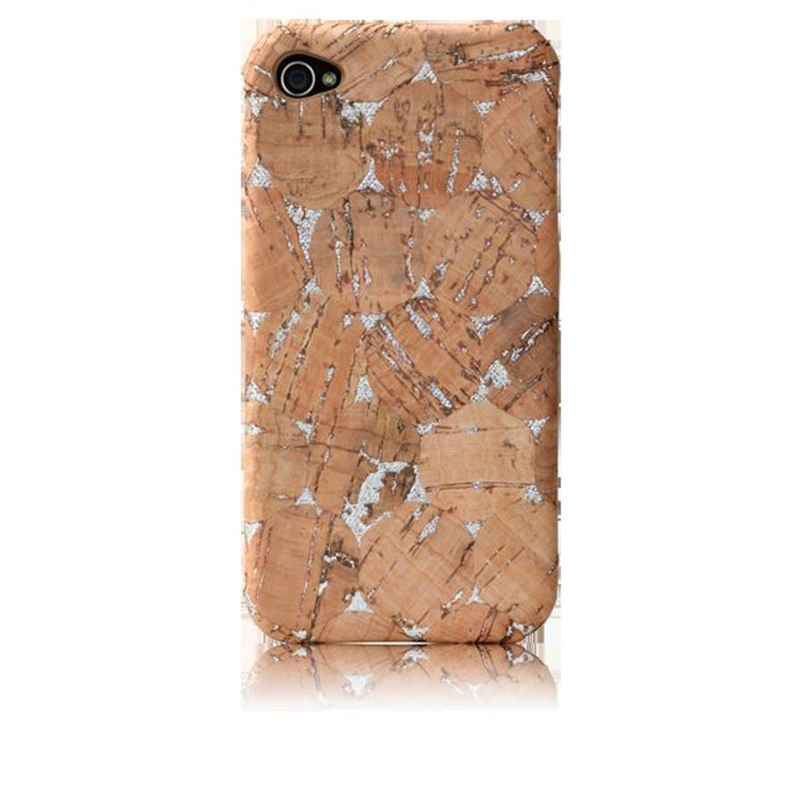 iPhone 4S/4 対応ケース Lisboa Case with Screen Protector, Cork/Silver 3