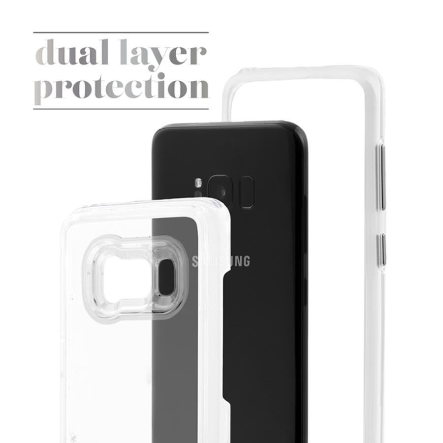 Galaxy S8+対応ケース Waterfall-Rose Gold 1