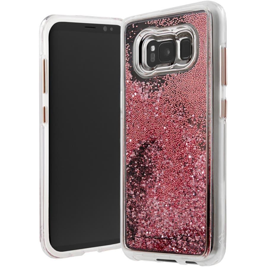 Galaxy S8+対応ケース Waterfall-Rose Gold 5