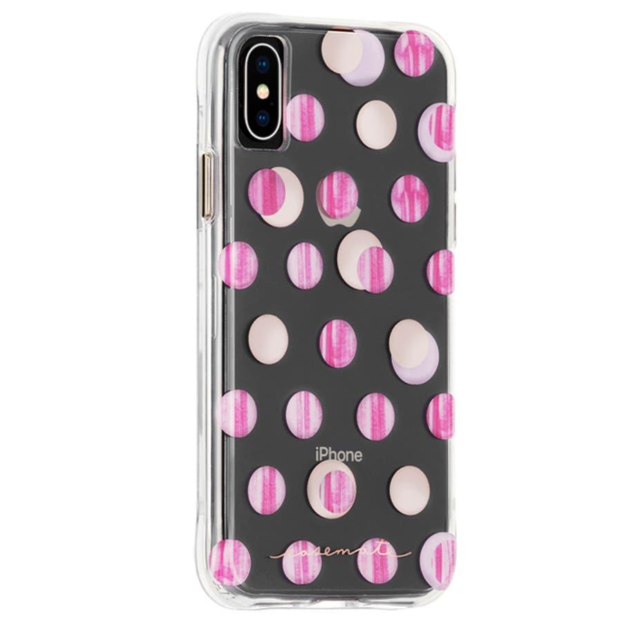 iPhoneXS/X対応ケース Wallpapers-Pink Dot 1
