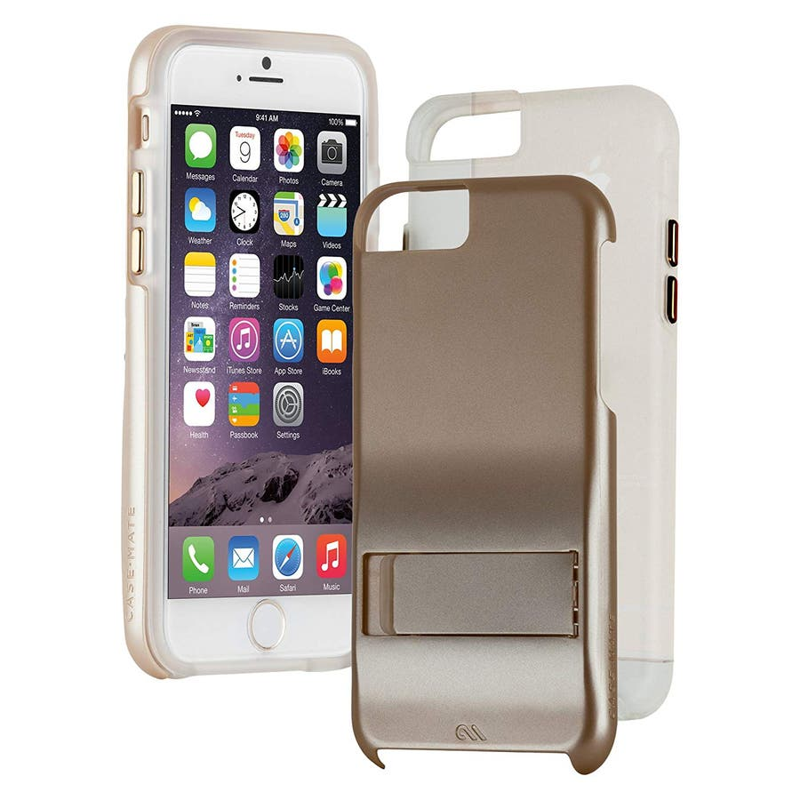 iPhone6s Plus/6 Plus 対応ケース Hybrid Tough Stand Case, Gold/Clear 1