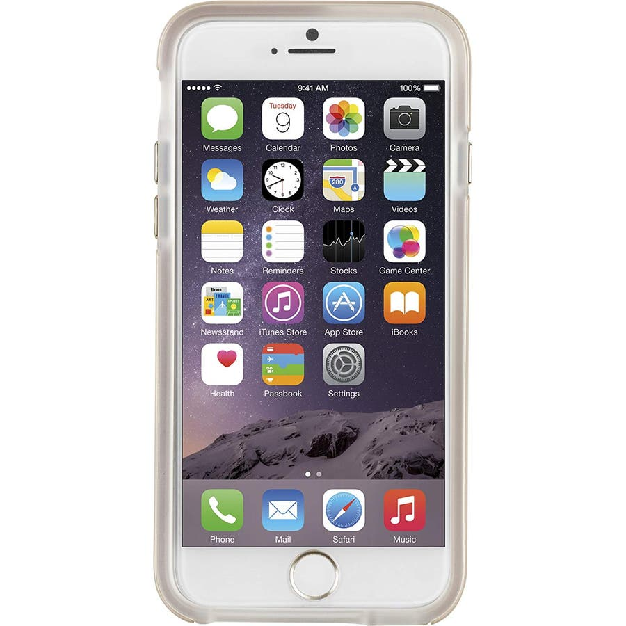 iPhone6s Plus/6 Plus 対応ケース Hybrid Tough Stand Case, Gold/Clear 5