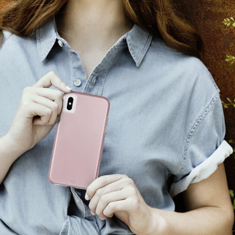 iPhoneXR対応ケース Tough Grip-Metallic Blush 1