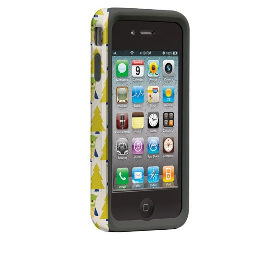iPhone 4S/4 対応ケース Hybrid Tough Case, Owl Forest 2