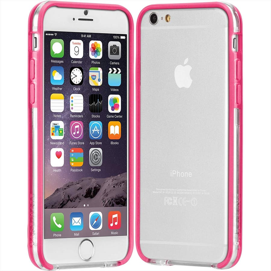 iPhone6s/6 対応ケース Tough Frame Case, Clear / Pink 1