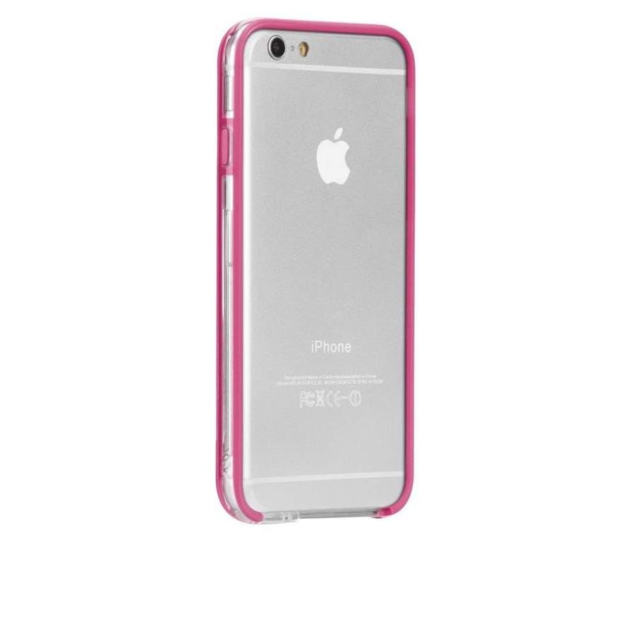 iPhone6s/6 対応ケース Tough Frame Case, Clear / Pink 2