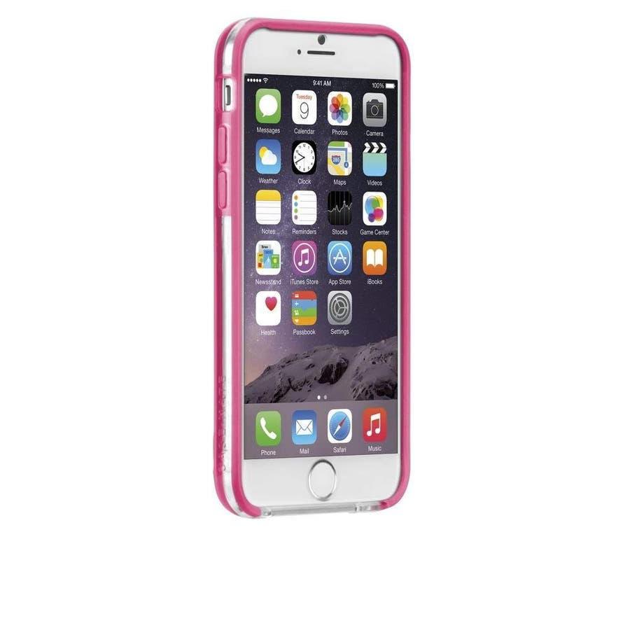 iPhone6s/6 対応ケース Tough Frame Case, Clear / Pink 3