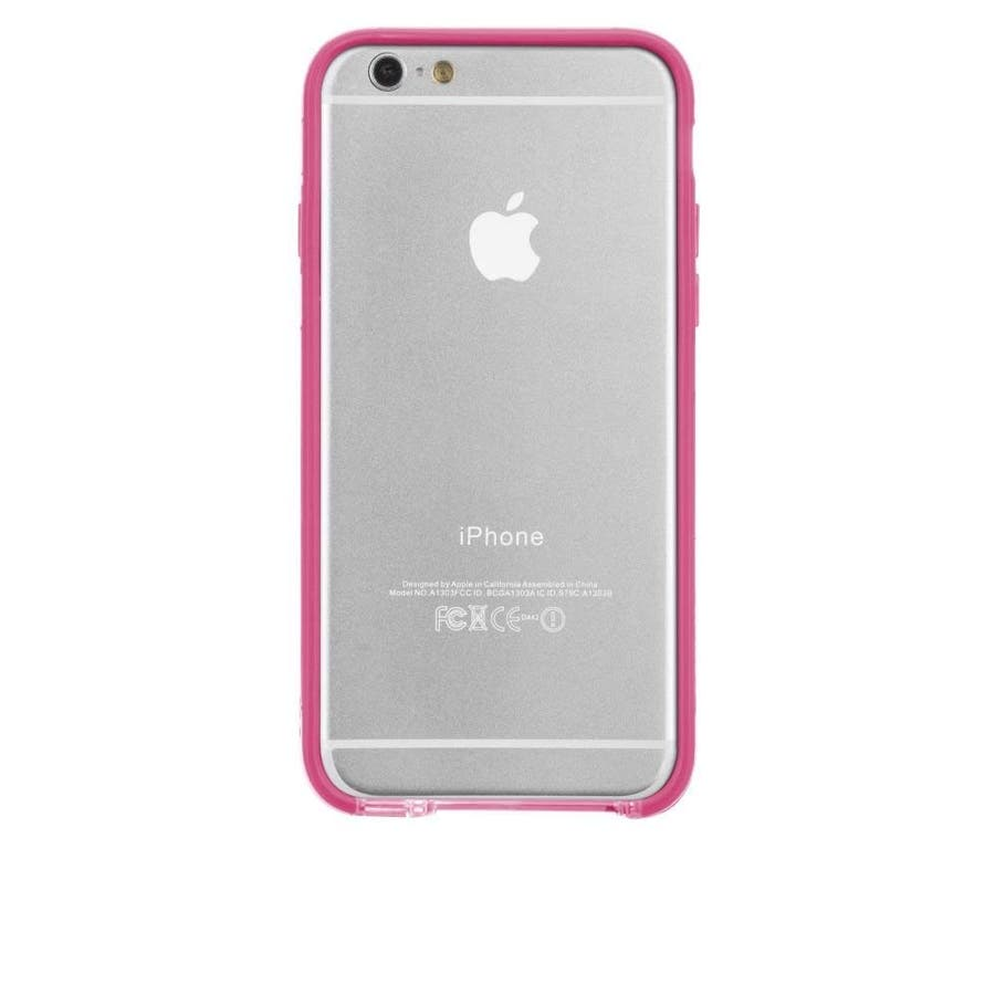 iPhone6s/6 対応ケース Tough Frame Case, Clear / Pink 4