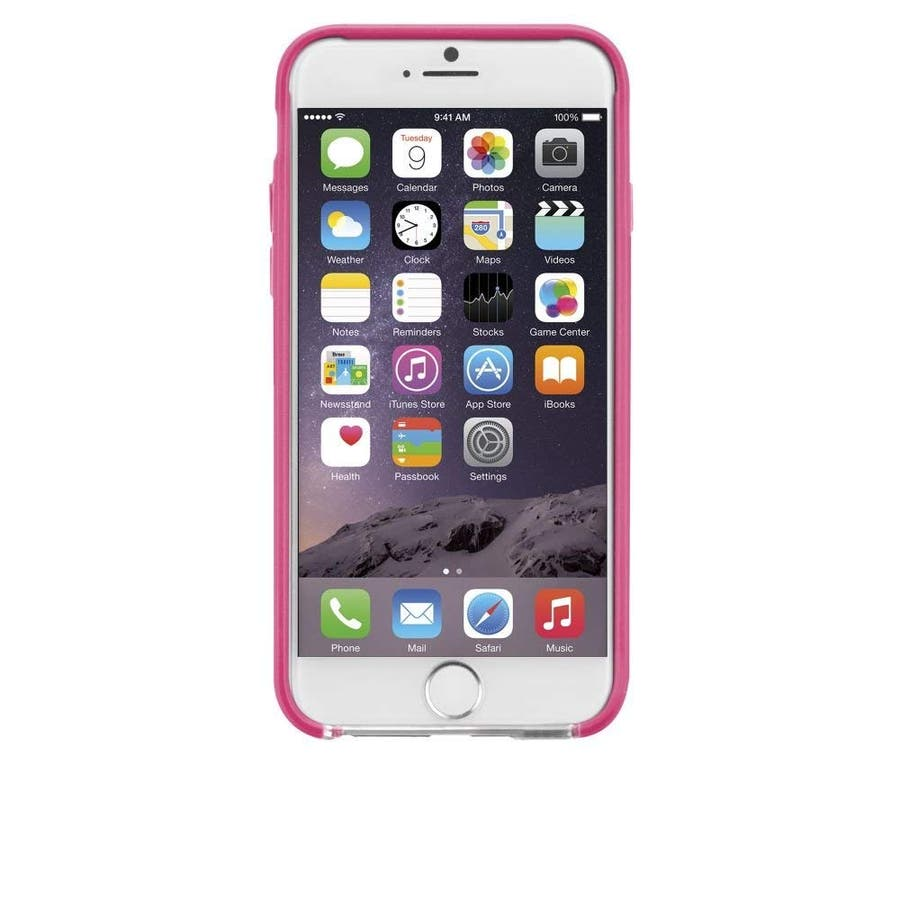 iPhone6s/6 対応ケース Tough Frame Case, Clear / Pink 5
