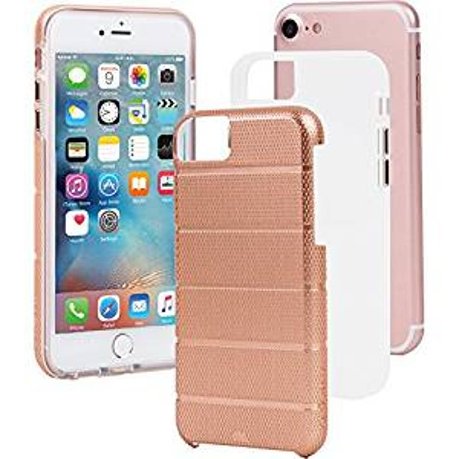 iPhone SE(第2世代) / iPhone8 対応 Tough Mag Case-Rose Gold / Clear 1