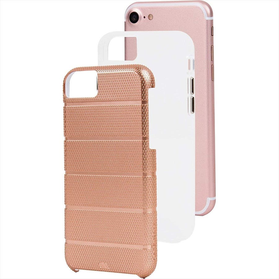 iPhone SE(第2世代) / iPhone8 対応 Tough Mag Case-Rose Gold / Clear 4