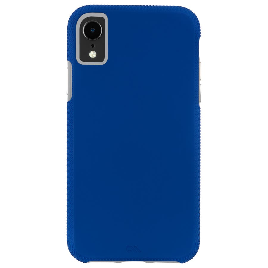iPhoneXR対応ケース Tough Grip-Blue/Titanium 2