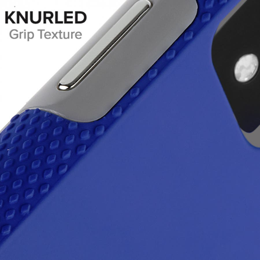 iPhoneXR対応ケース Tough Grip-Blue/Titanium 3