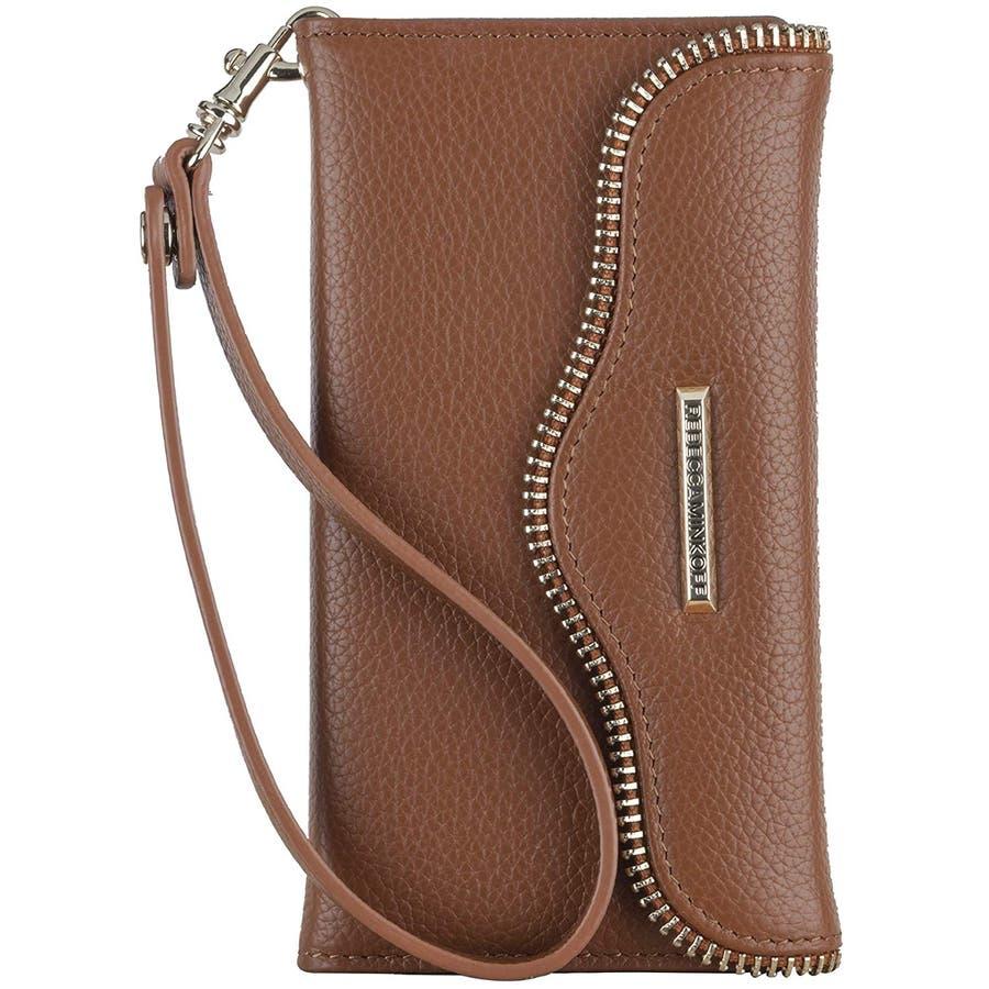 iPhone6s Plus/6 Plus 対応ケース REBECCA MINKOFF Leather Folio Wristlet,Almond 1
