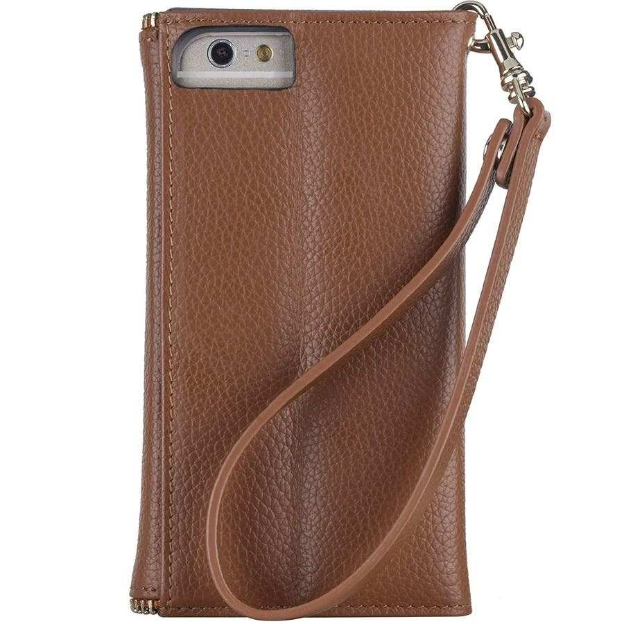 iPhone6s Plus/6 Plus 対応ケース REBECCA MINKOFF Leather Folio Wristlet,Almond 3