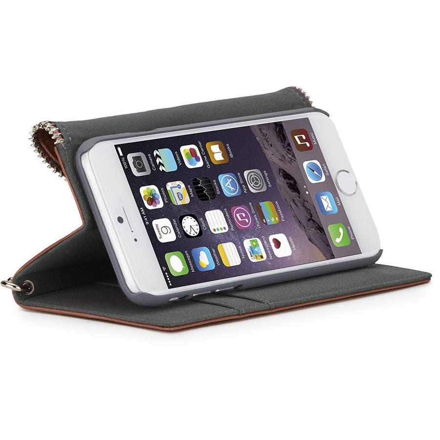 iPhone6s Plus/6 Plus 対応ケース REBECCA MINKOFF Leather Folio Wristlet,Almond 4