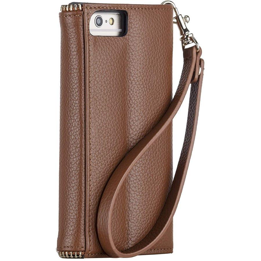 iPhone6s Plus/6 Plus 対応ケース REBECCA MINKOFF Leather Folio Wristlet,Almond 5