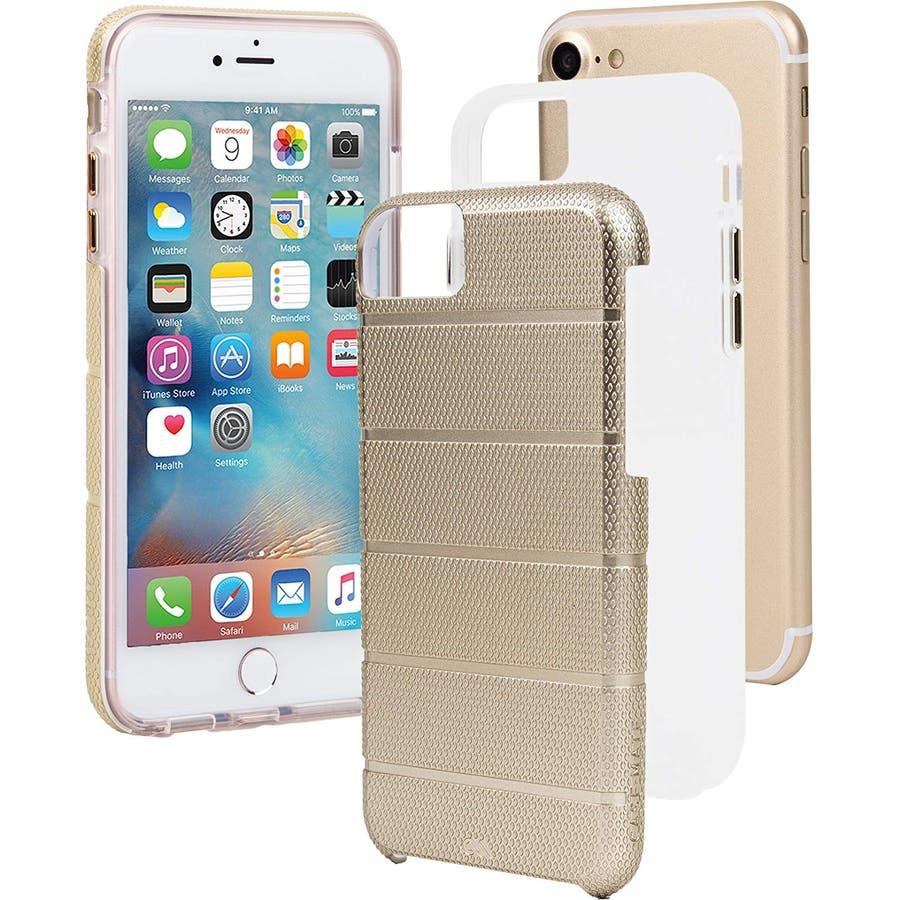 iPhone SE(第2世代) / iPhone8 対応 Tough Mag Case-Gold / Clear 2